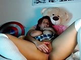 Girl big tits masturbation webcam