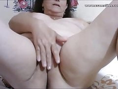 Mrs Gonzalez showiing her pussy on webcam