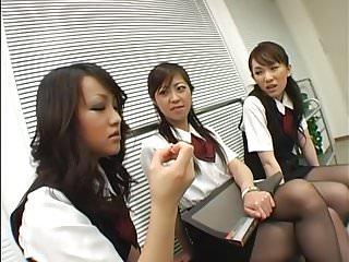 Asian black pantyhose femdom...