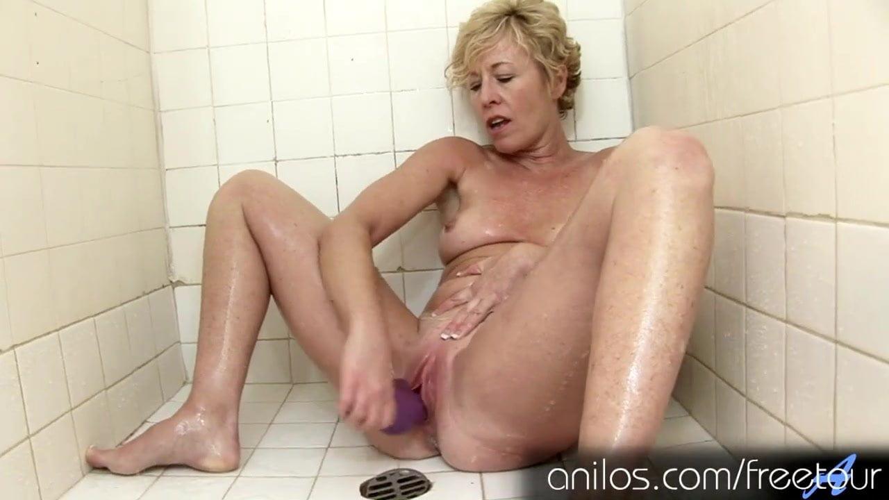Girl Masturbating Bath Dildo