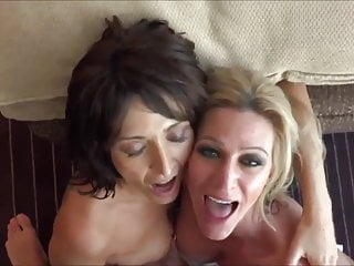 Just a couple of MILF whores getting covered in cum