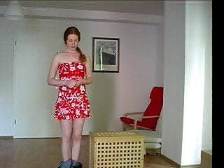 A sweet redhead learns what discipline is