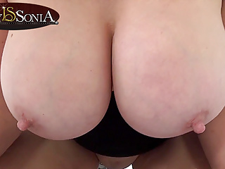 Lady Sonia Shoves Her Huge Boobs In Your Face