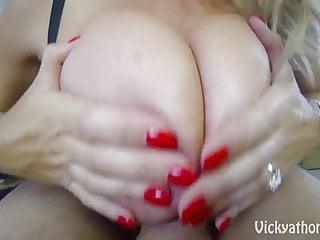 Cover My Big Tits in Jizz MILF Vicky Vette