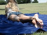Female Feet Outdoors