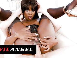 EvilAngel – Ebony Magnificence Ana Foxxx's Firm Ass Fucked