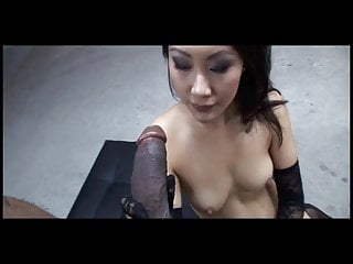 Petite evelyn lin worships big black cock...