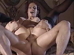 Black Stockings Sophie Evans Rigid Anal Fucking