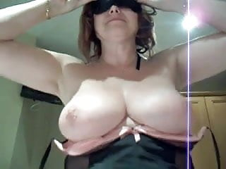 Busty riding cock...