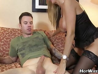 Mature fucks with young man