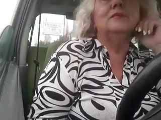 Naughty boobs masturbates car...