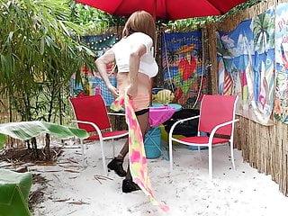 Big panty woman cd gurl modeling panties at...