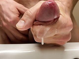 Penis masturbation and close up...