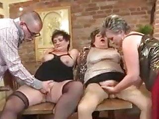 Three Gorgeous Grannies, One Guy