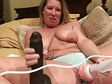 Milf vibrates her pussy
