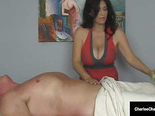 Massage Parlor Milf Charlee Chase Makes Guy Cum Twice