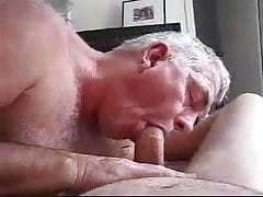 Old daddy sucking cock