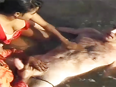 interracial indian sex fun at the beach