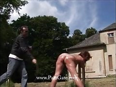 restrained and switched outdoors!