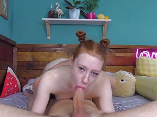 Cute Redhead Suck Cock gets Fucked and Lets Cum in her Mouth
