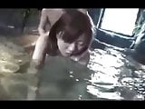 Couple to enjoy in the hot spring POV