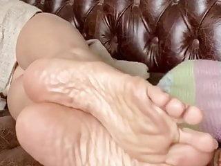 Asian mature feet soles...