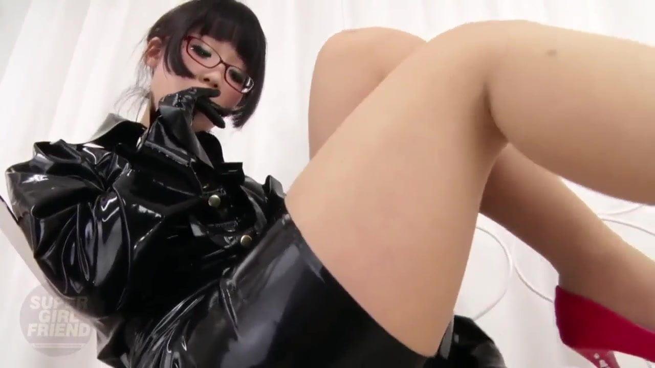 Girl In Black Latex