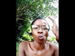 young black girl masturbating in the garden