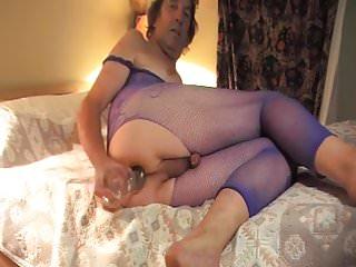 Transvestite transexual anal pantyhose 56...