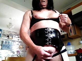 Wanking in underwear