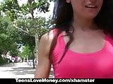 TeensLoveMoney - Cute Brunette Fucks In Public For Extra Cas