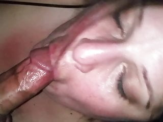 Wifey swallowing Cock like a good little whore!