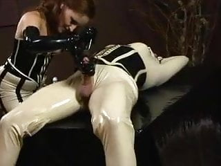 Redhead shaves masked shemale 039 balls...