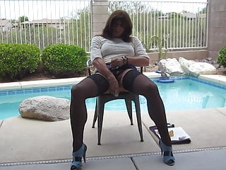 Lara outdoors intense crossdresser and orgasm toys with