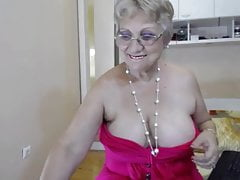 Big Boobed Grandmother Unwraps And Taunts On Web Cam Again