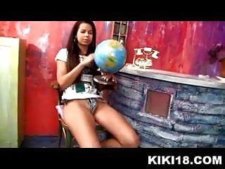 Stunning masturbation video of fresh 18 year old model Kiki