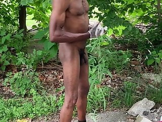 Homeless stripping naked outside 1st time
