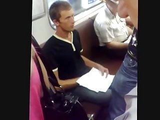 Man masturbates in the subway