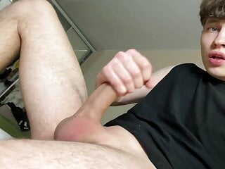 Cute boy shows you his real monster cock...