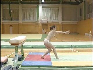 Topless gymnastics...