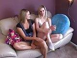 Heather & Tara make daddy cum!