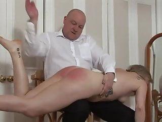 Wife spanked otk naked...
