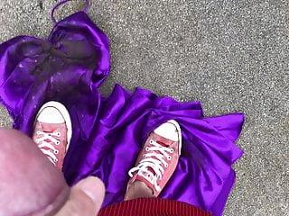 Samantha has her prom dress trampled like a...