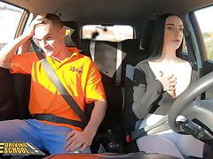 Fake Driving School Instructor Cheats with Lady