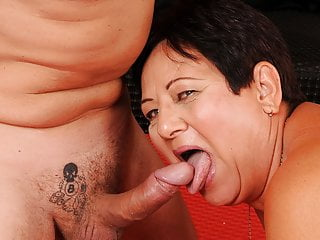 Old bbw granny enjoying her younger plaything...