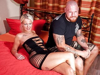 Tattooed couple bangs...