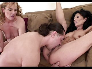 Thresome With Two Bisex Horny milf