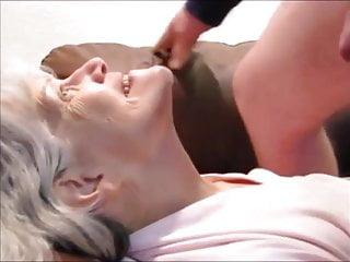 cum hair sucking cock grandma White drink and