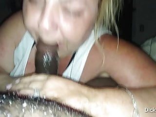 BBW Gives Head Then Chokes On Cum Load While Deep Throating