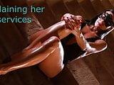BDSM model Alex Zothberg explaining her private services